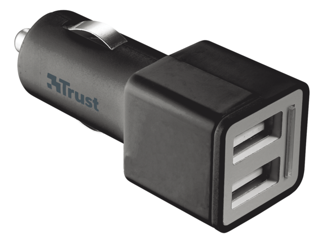 Oplader trust car charger + 2 usb port2 12watt