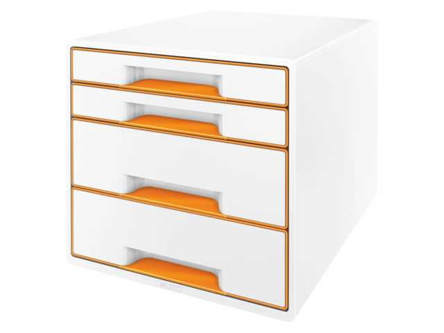 Ladenbox leitz 5213 wow 4 laden wit/oranje