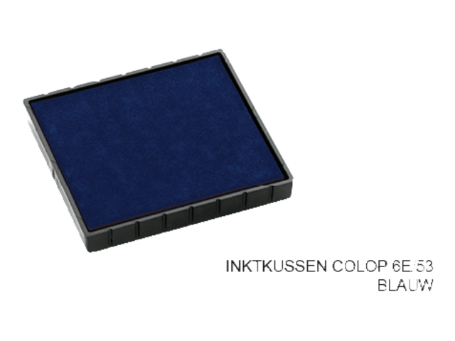 Stempelkussen colop 6e/53 blauw