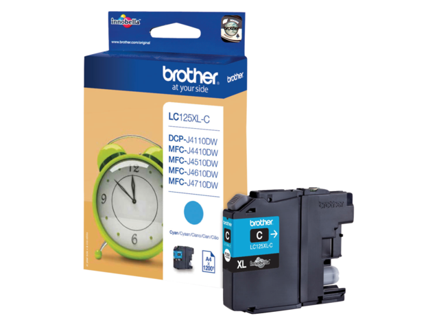 Inkcartridge brother lc-125xlc blauw hc