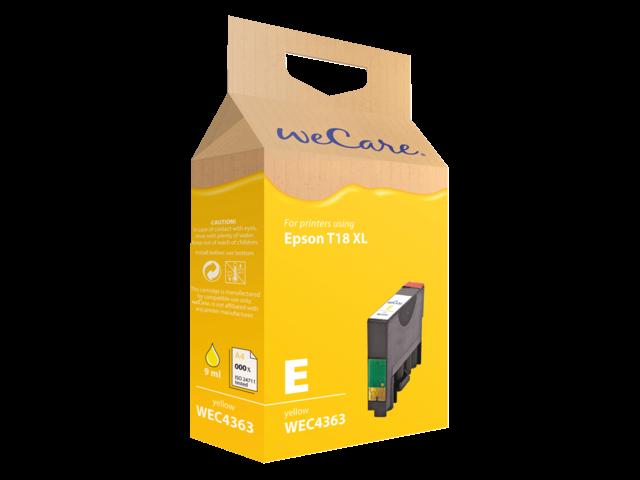 Inkcartridge wecare epson t181440 geel hc