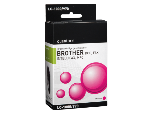 Inkcartridge quantore brother lc-1000 rood