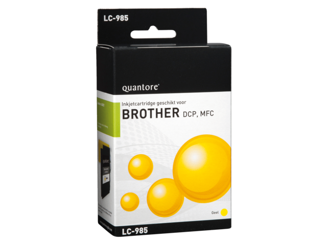 Inkcartridge quantore brother lc-985 geel