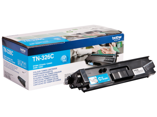 Tonercartridge brother tn-326c blauw