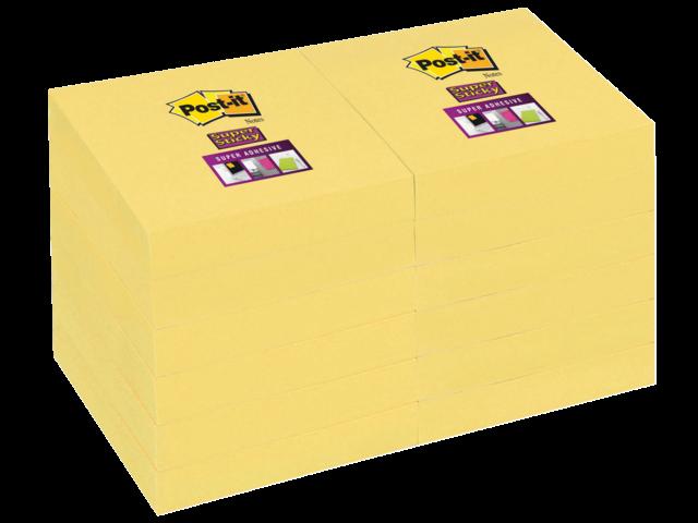 Memoblok 3m post-it 656-ssy super sticky 47.6x76mm geel