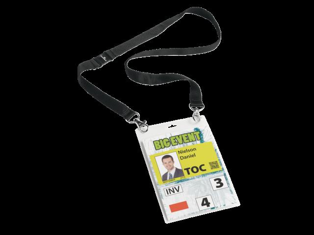 Badge durable 8525 voor evenementen a6 met koord zwart