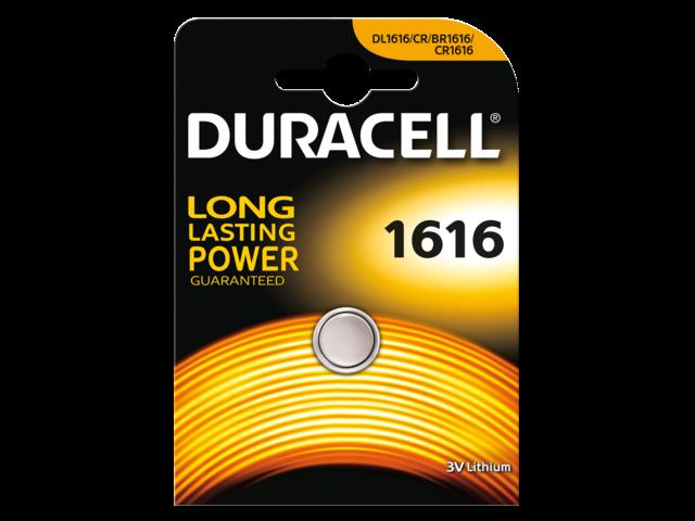 Batterij duracell knoopcel 1616 lithium