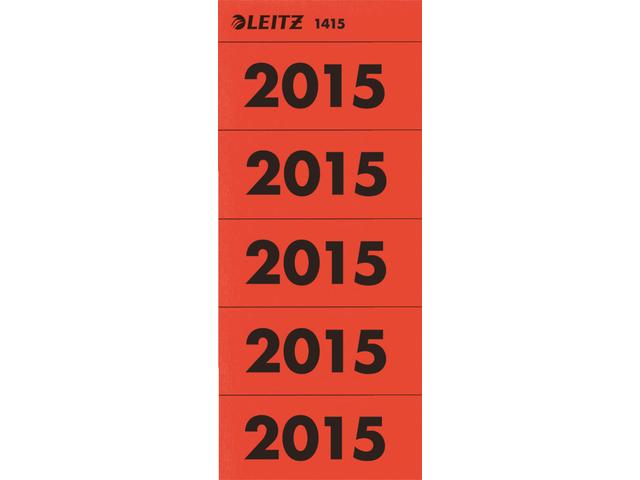 Rugetiket leitz jaaretiket 2015 rood