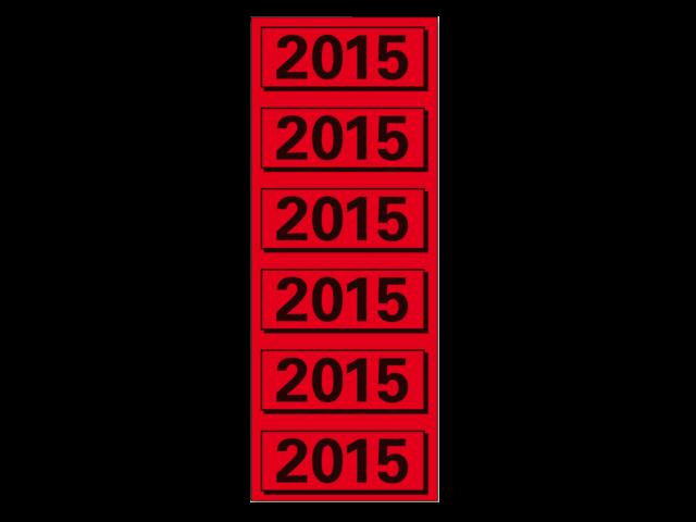 Rugetiket elba 2015 rood jaaretiket