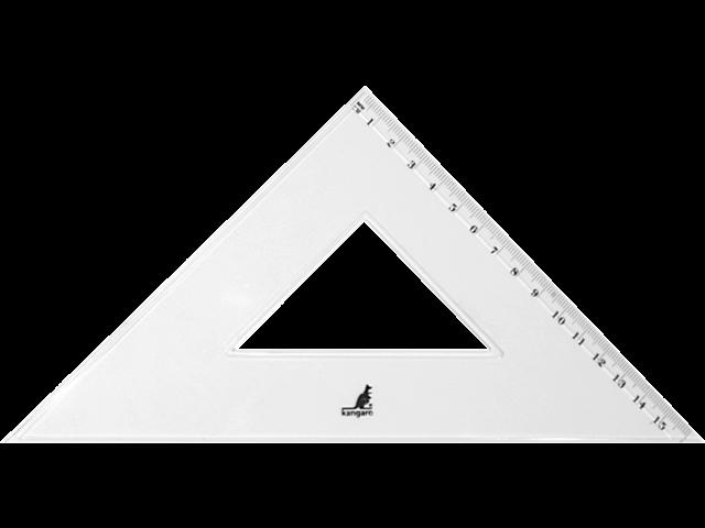 Driehoek kangaro 250mm 45graden transparant
