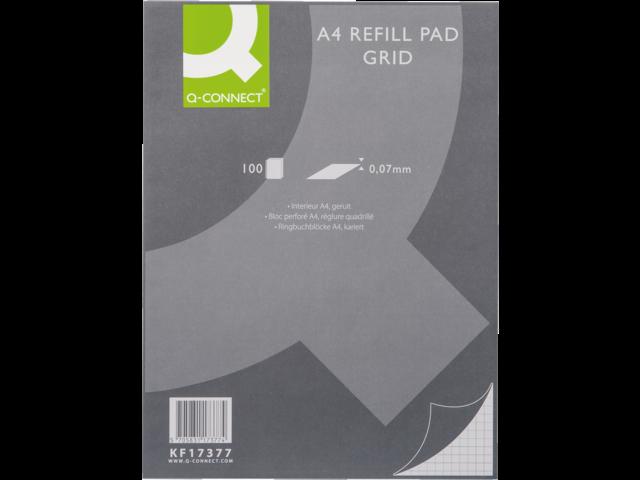 Interieur q-connect a4 23r ruit  5mm 70gr
