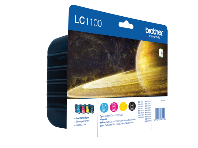 Inkcartridge brother lc-1100valbp zwart+3 kleuren