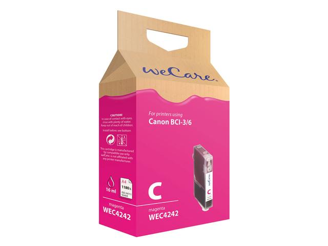 Inkcartridge wecare canon bci-3/6 rood