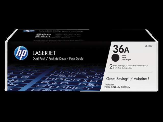 TONERCARTRIDGE HP 36A CB436AD 2K ZWART