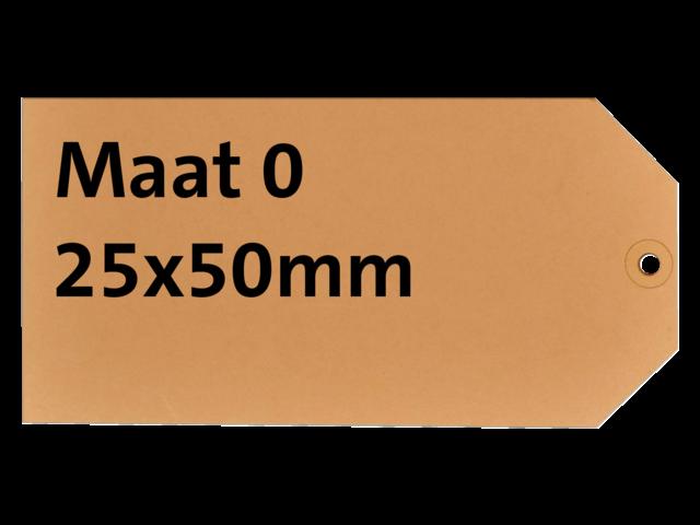 LABEL HF2 NR0 25X50MM KARTON 200GR CHAMOIS