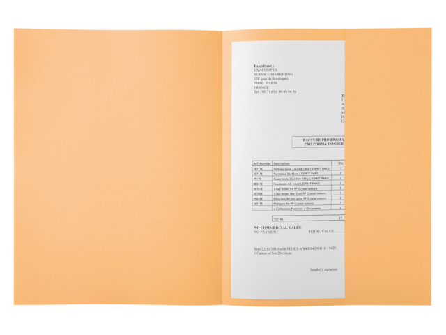 Dossiermap exacompta jura 160gr 1klep lichtoranje