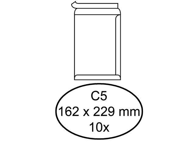 Quantore enveloppen kleinverpakking zelfklevend
