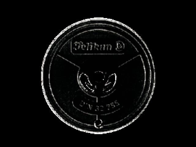 Lint pelikan groep 1 dubbelspoel nylon zwart/rood