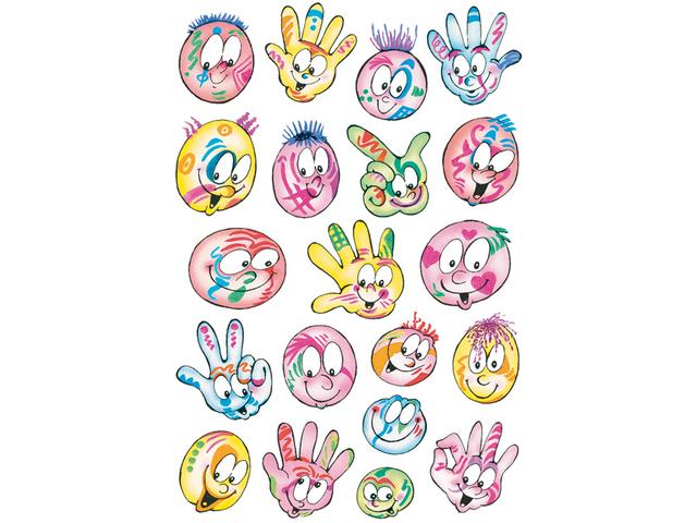 Etiket herma 3531 bonte gezichten