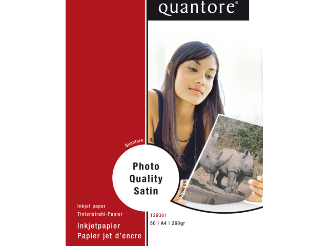 Photo: FOTOPAPIER QUANTORE A4 225GR MAT SATIJN