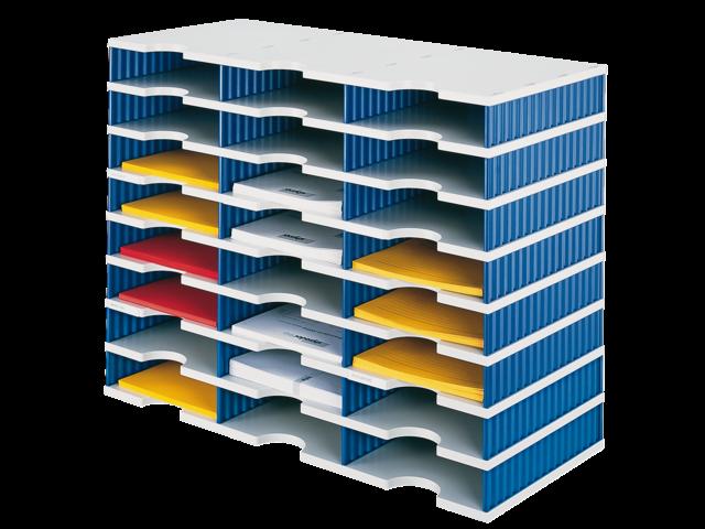 Vakkenset styrodoc a4 24 vaks blauw/grijs
