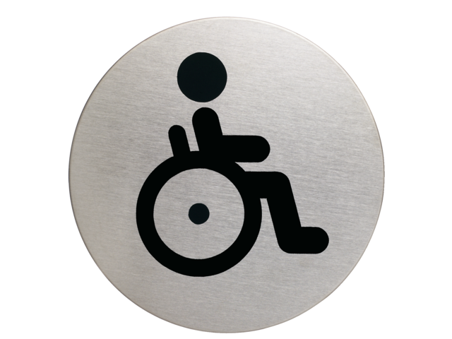INFOBORD PICTOGRAM DURABLE WC INVALDE ROND 83MM