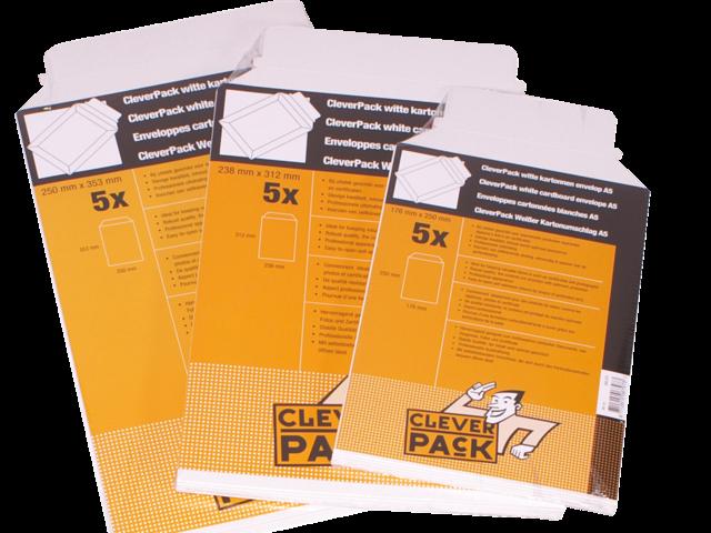 ENVELOP CLEVERPACK A4 238X312MM KARTON WIT