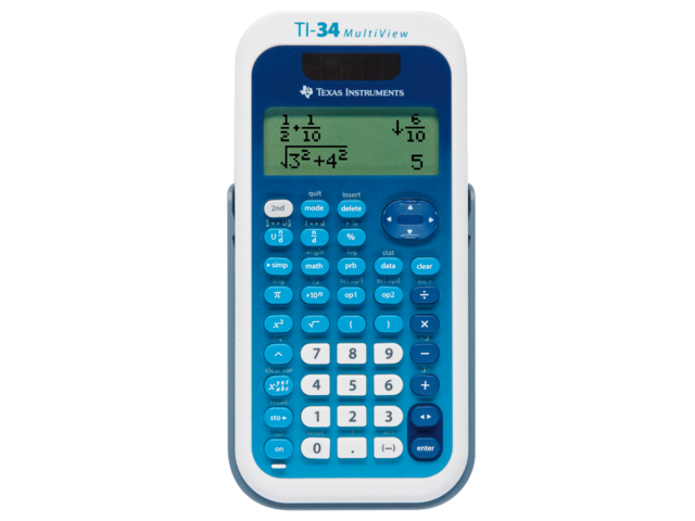 Rekenmachine ti-34 multiview teacherpack