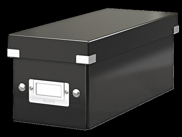 Cd box leitz click en store 127x124x320mm zwart