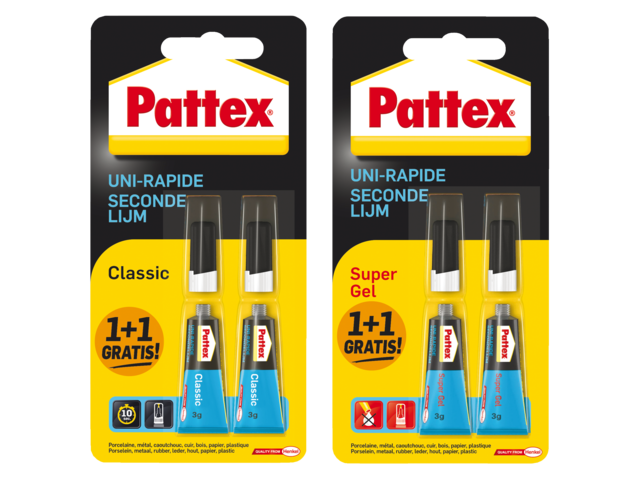SECONDELIJM PATTEX CLASSIC EN SUPERGEL 1+1