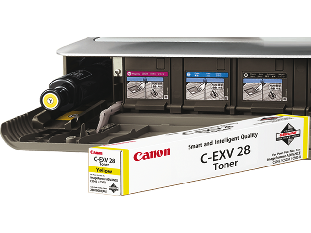 Tonercartridge canon c-exv28y geel