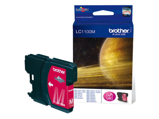 Inkcartridge brother lc-1100m rood