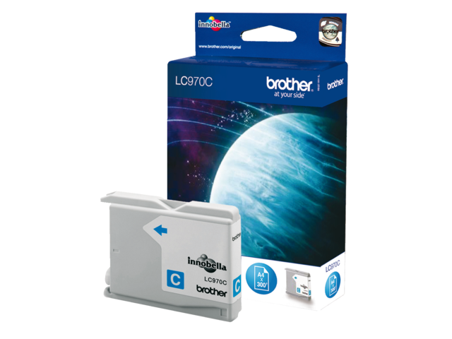 Inkcartridge brother lc-970c blauw