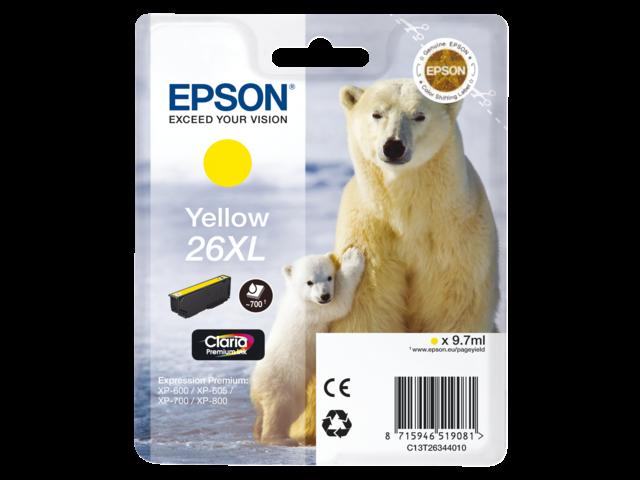 Inkcartridge epson t263440 geel hc