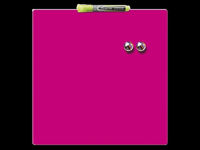 Whiteboard quartet 36x36cm roze magnetisch