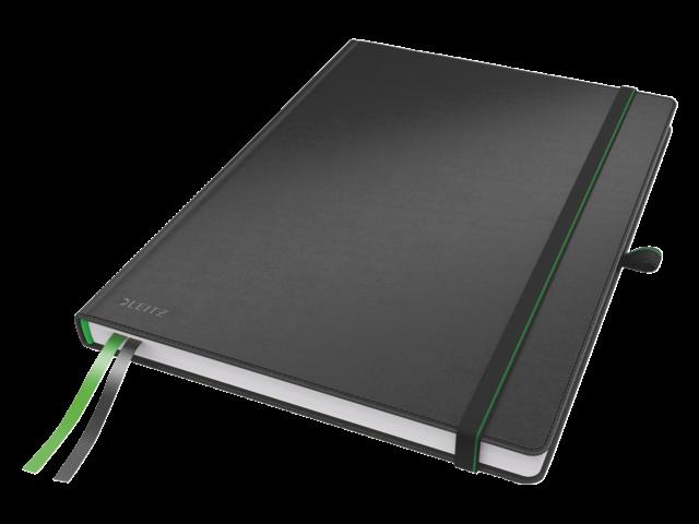 Notitieboek leitz complete hardcover ipad gelinieerd zwart