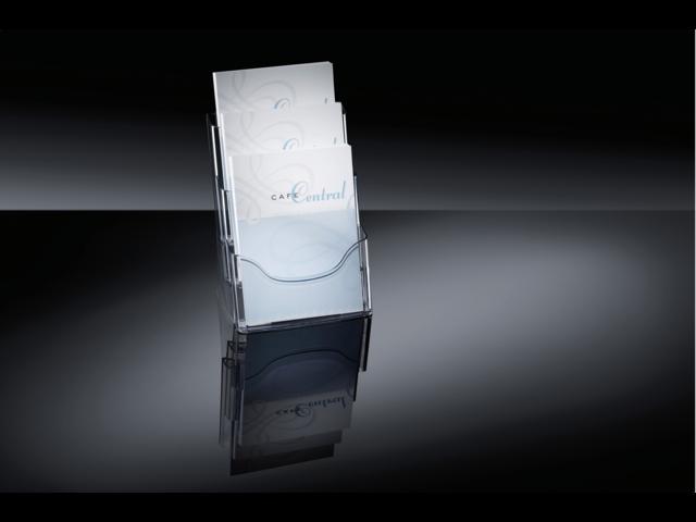 Folderstandaard sigel lh130 3xa4 staand transparant