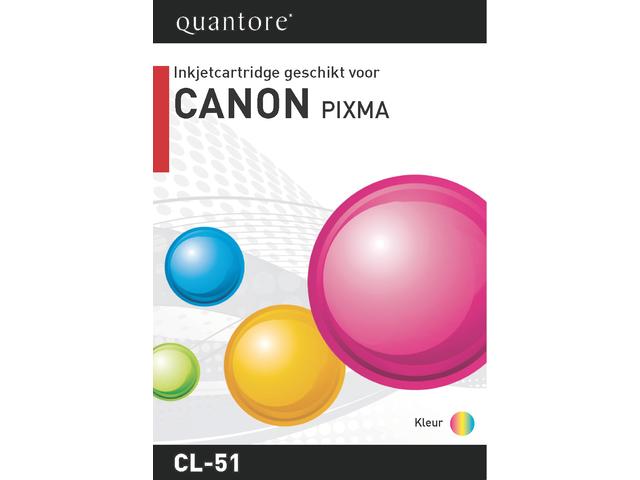 Inkcartridge quantore canon cl-51 kleur