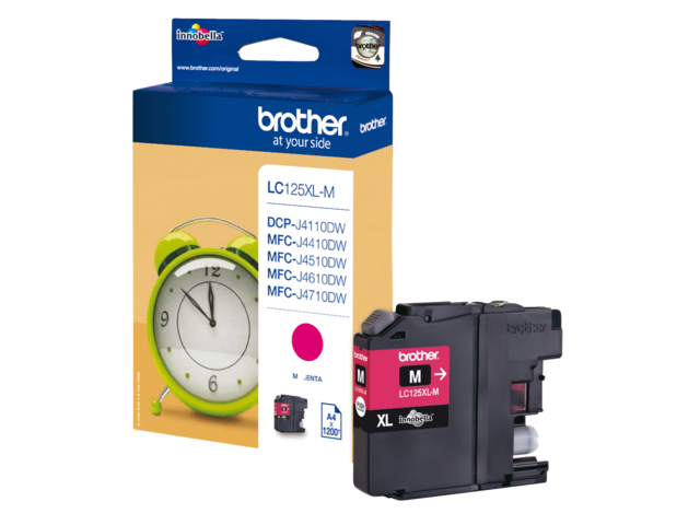 Inkcartridge brother lc-125xlm rood hc