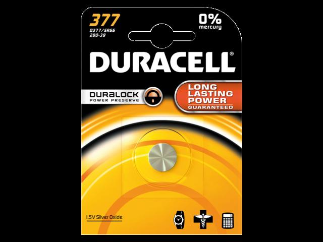 Batterij duracell knoopcel 377 zilver oxide