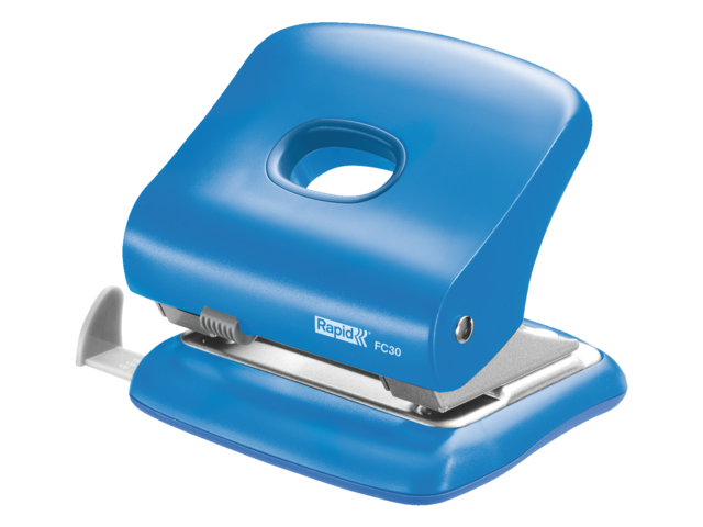 Perforator rapid fc30 2-gaats 30vel lichtblauw