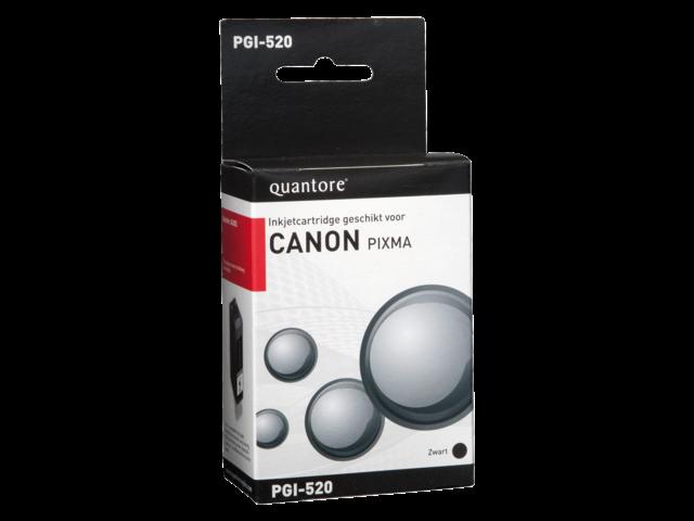 Inkcartridge quantore canon pgi-520 zwart + chip