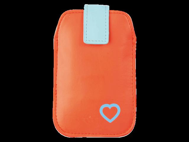 Telefoonhoes dresz pouch upp phone hart roodblauw
