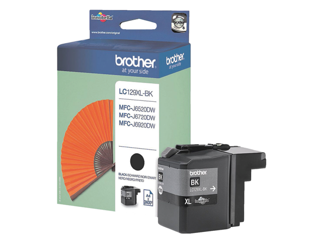 Inkcartridge brother lc-129xlbk zwart hc