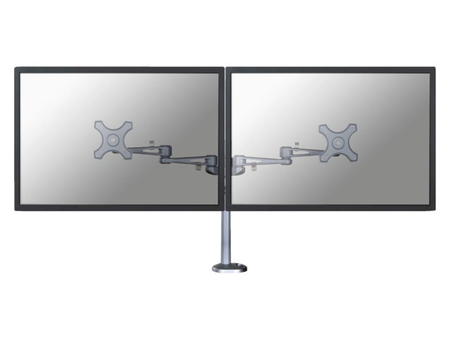 Flatscreenarm newstar d935dg 2 schermen doorvoer zilver