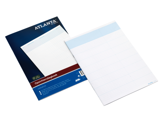 Opzichtersdagboek atlanta a5492-401 294x207mm 20vel