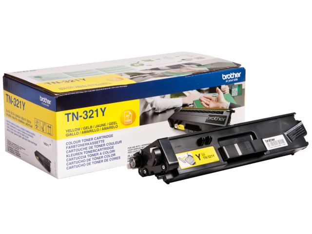 Tonercartridge brother tn-321y geel
