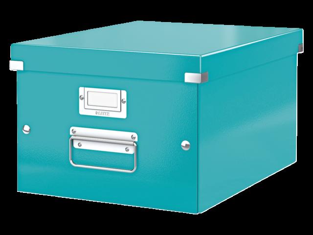 Opbergbox leitz click en store 265x188x335mm ijsblauw