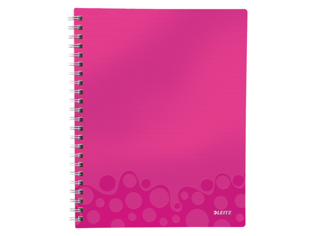 Notitieboek leitz wow get organised a4 pp roze