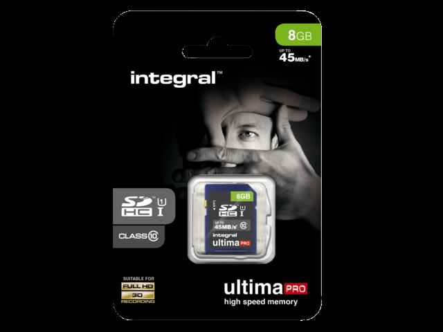 Geheugenkaart integral sdhc class10 8gb
